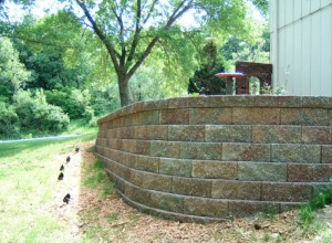 Custom retaining wall in Overland Park, KS