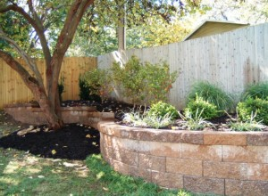 Retaining Wall and Landscaping in Kansas City