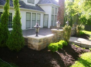 Retaining Wall and Patio in Shawnee